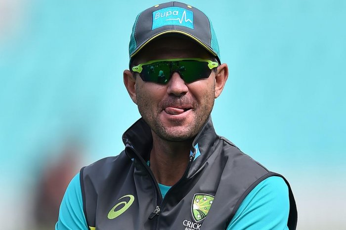 Former Australia captain Ricky Ponting. takes part in a practice session at the Oval cricket ground in London on June 11, 2018 ahead of their one day international series against England. (AFP PHOTO)