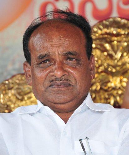 Minister for Backward Classes Welfare C Puttarangashetty
