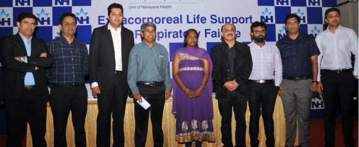 Anitha along with the team of doctors of Narayana Multispeciality Hospital.