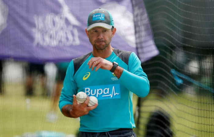 """Former Australia captain Ricky Ponting on Sunday slammed the current team for showing """"no desperation"""" after Nathan Lyon decided against reviewing his lbw decision on day four of the fourth Test against India here. Reuters file photo"""