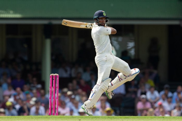 With his ability to focus for long durations, Cheteshwar Pujara has frustrated the Australian bowler. AFP