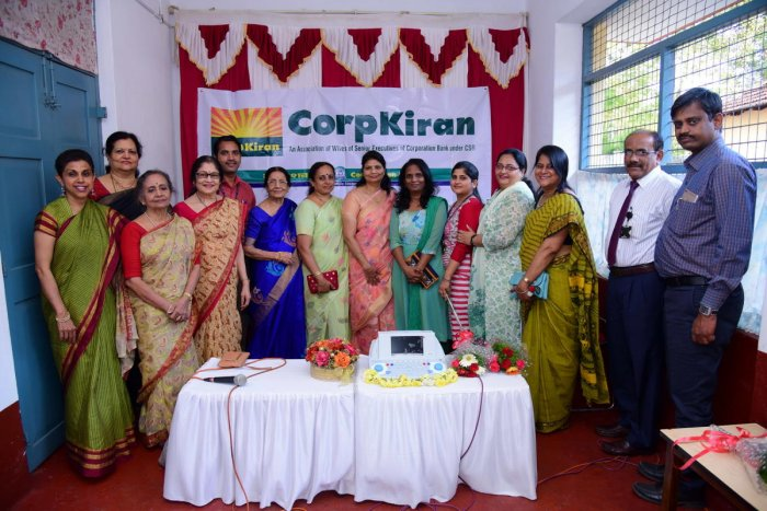 CorpKiran Committee members, headed by their president Meena Garg, hand over Resonance Digital Audiometer to Guild of Service (Seva Samajam), Mangaluru.