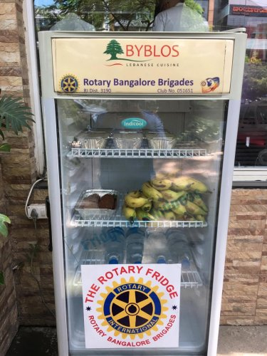This fridge at Byblos restaurant, Indiranagar, was among the first to be installed on Bengaluru streets.