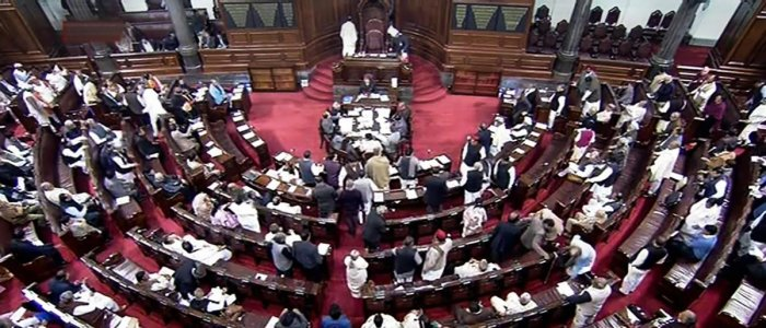 Rajya Sabha proceedings were adjourned till 2 pm on Tuesday without transacting any business as the Samajwadi Party members protested amid reports that the CBI might quiz former Uttar Pradesh chief minister Akhilesh Yadav in an illegal mining case. PTI fi