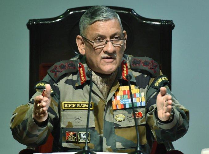 Army chief Gen Bipin Rawat. File photo