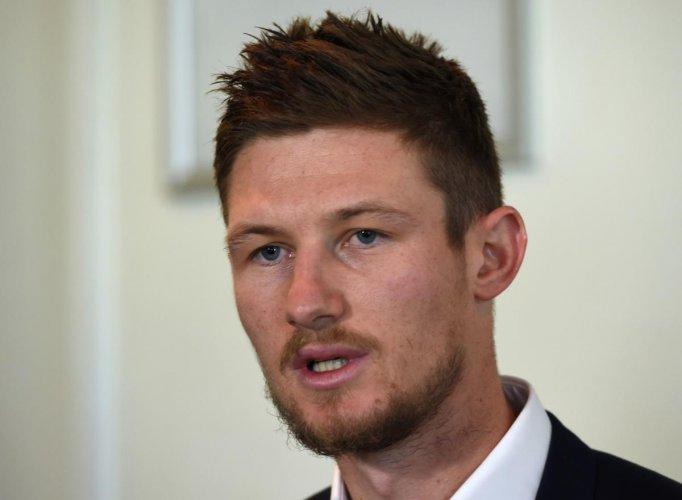 Australia's Cameron Bancroft said he had no ill feeling towards David Warner and Steve Smith. AFP Photo