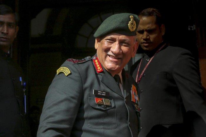 Army Chief Gen Bilin Rawat. File photo