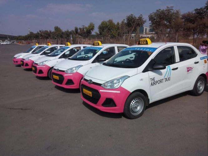 The airport pink taxi service was launched on January 7 at Kempegowda airport. It's driven by women for women.
