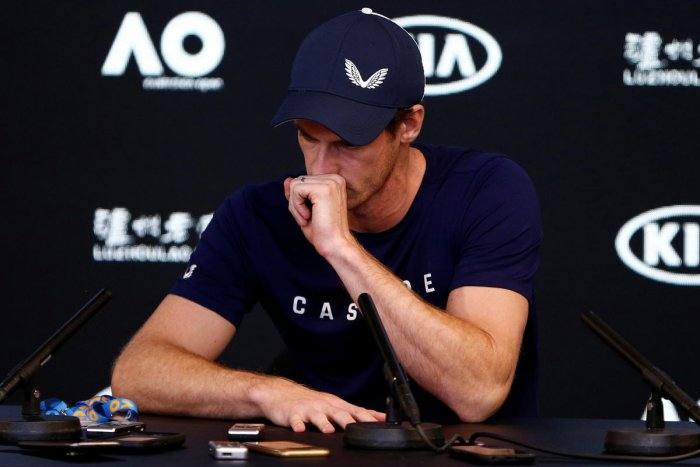 Andy Murray of England speaks to the media during a press conference at the Australian Open in Melbourne, Australia, January 11, 2019. REUTERS