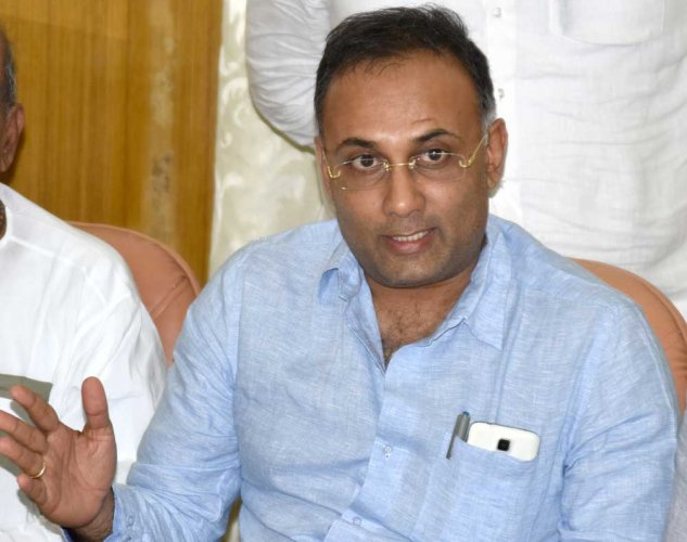 Karnataka Pradesh Congress Committee (KPCC) president Dinesh Gundu Rao. DH file photo