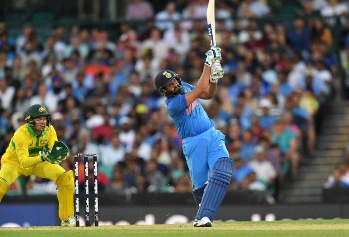 Sharma conjured up a magnificent 133 of 129 balls for his 22nd ODI hundred but eventually it only helped in reducing the defeat-margin as India ended up at 254 for nine while chasing a 289-run target. (AFP Photo)