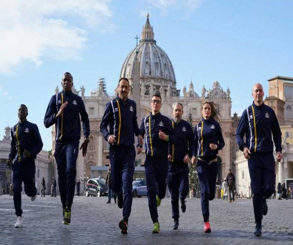 The newly-formed Vatican Athletics team, which is aiming to compete in international competitions, including the Olympics, was officially launched on Thursday after reaching a bilateral agreement with the Italian Olympic Committee (CONI). Picture courtesy Twitter