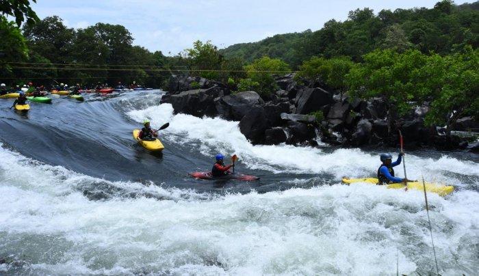 Kayaking in River Kali