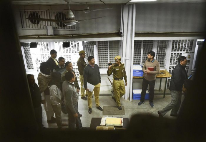 Accused members, arrested in ISIS case, being produced at a special National Investigation Agency (NIA) court in New Delhi on Dec 27, 2018. (PTI File Photo)