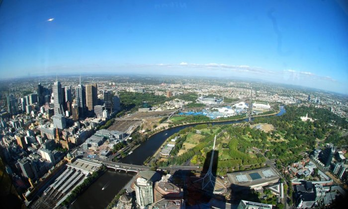 A view of Melbourne from Eureka Skydeck