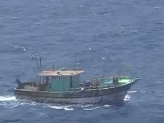 With a hope to trace the missing fishing boat Suvarna Thribhuja, 200 deep sea fishing boats left Malpe shores for a combined search on Saturday late night. File photo for representation