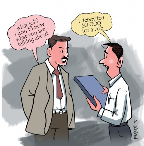 Job frauds are common among cheating cases.