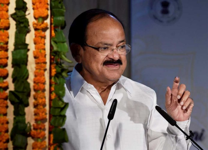 "Vice President M Venkaiah Naidu on Sunday called for return to the Indian traditions of healthy eating and living by giving up ""west-oriented lifestyles"". PTI file photo"