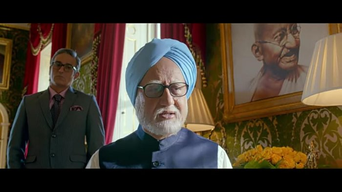 """Still from the trailer of the film: """" The accidental prime minister"""". Screen Grab"""