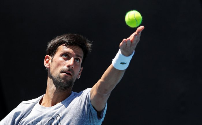MAN TO BEAT: Novak Djokovic, the World No 1 and six-time winner at Melbourne, starts as the favourite at the Australian Open that kicks off on Monday. REUTERS