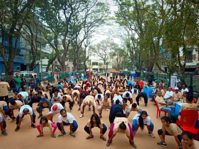 Residents of Koramangala take part in a run to redevelop the Mestripalya Lake on Sunday.