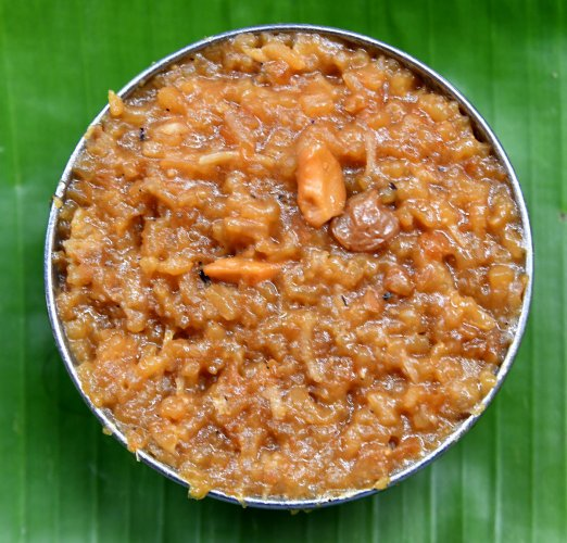 Sweet date pongal