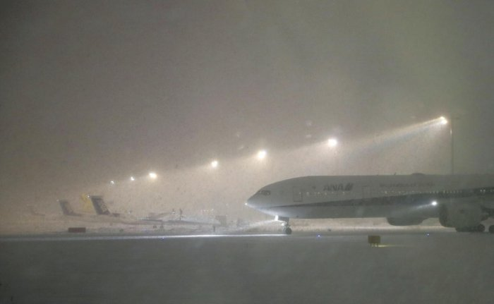 Icy weather is blamed for multi-billion dollar losses every year, including delays and damage related to air travel, infrastructure and power generation and transmission facilities, said researchers from the University of Houston. (Reuters File Photo)