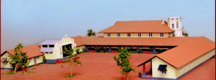 An image of the old building of Besant school in Kodialbail, Mangaluru.