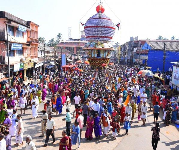 Bramharathotsava held at Sri Krishna Temple in Udupi on Tuesday.