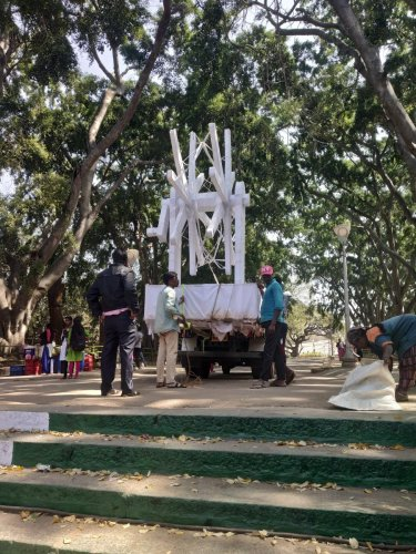 Gandhi's charaka will be one of the main attractions this Republic Day flower show.