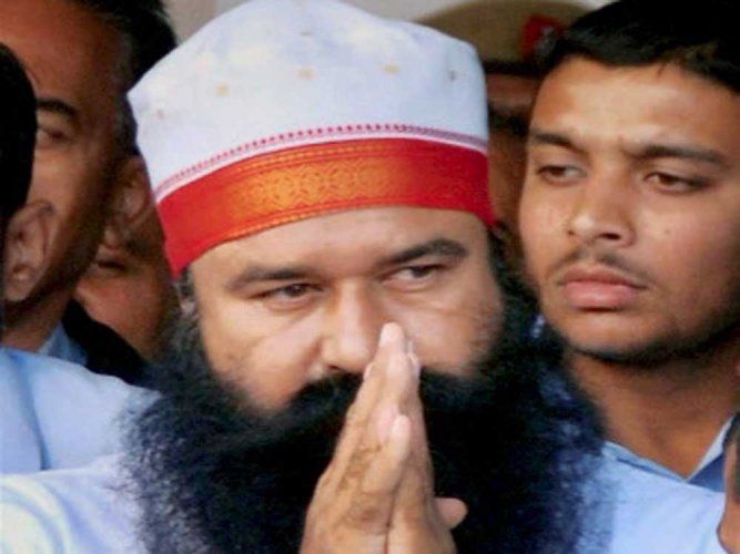 The CBI court on Thursday pronounced the judgment to all the accused through video-conferencing. Gurmeet Ram Rahim Singh is already lodged in Sunaria jail in Rohtak serving a 20-year jail term for rape of two of his woman disciples. (PTI File Photo)