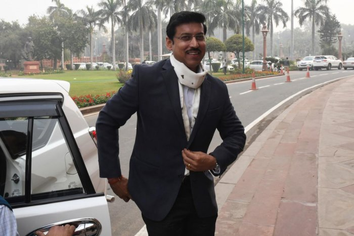 Indian Minister of Youth Affairs and Sports Rajyavardhan Singh Rathore. (AFP Photo)