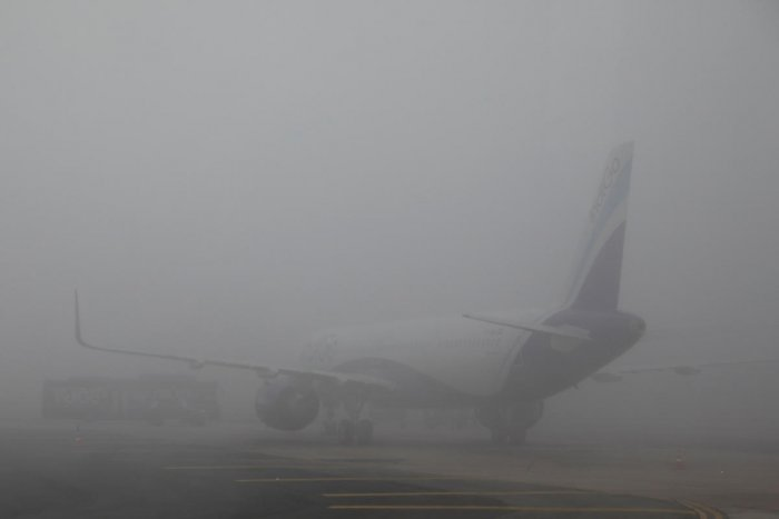 """""""Due to dense fog and poor visibility in Delhi, delays are expected for both arrivals and departures with likely consequential impact on flights across network. Currently, flight departures from Delhi are on hold and will resume by 0930 hrs subject to weather clearance,"""" Air Vistara said on it's Twitter handle. (Reuters file photo)"""