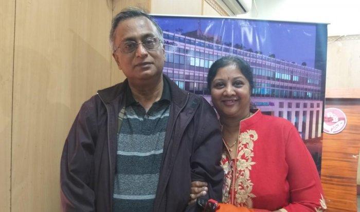 Hari Prasad with his wife Mamatha