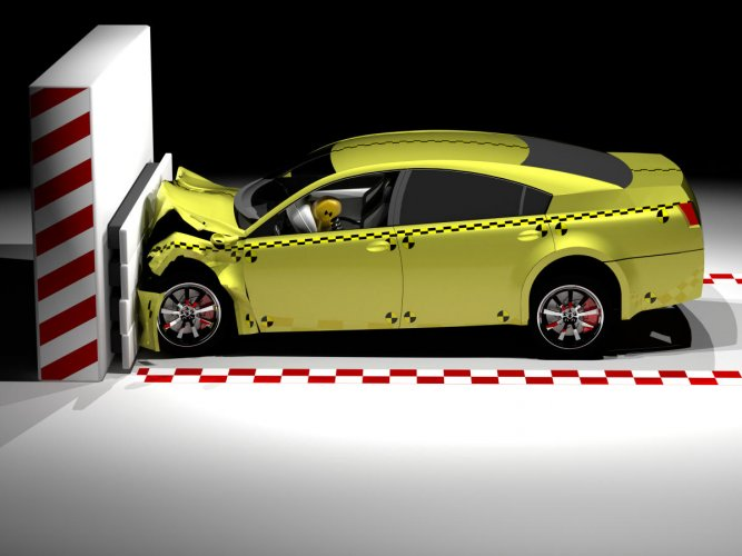 Cars will have to put in more safety measures from July, as part of the Union government's scheme to make Indian roads safer. This picture depicts a crash test to measure a car's ability to deal with an impact.