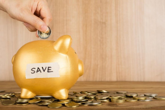 Money coin deposit of save for prepare in the future.Money Saving