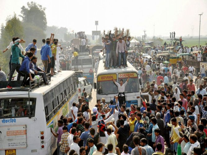 In early 2016, Jat groups held violent protests in Haryana demanding reservations under the OBC category. (PTI File Photo)
