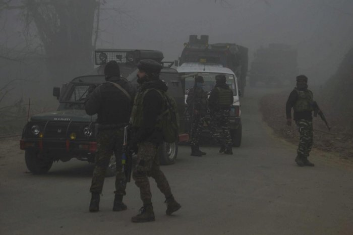 The gunfight broke out in the morning when a joint team of army's 53 Rashtriya Rifles, J&K police and paramilitary CRPF launched a cordon-and-search-operation (CASO) in Hapatnar village in Charar-e-Shareef, 45 km from here, after inputs about the presence of three militants in the area. (PTI File Photo)