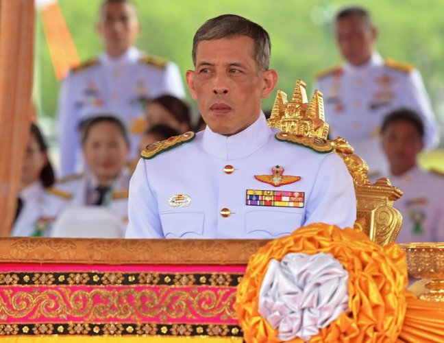 In this file photo taken on May 13, 2015, Thailand's Crown Prince Maha Vajiralongkorn attends the annual royal ploughing ceremony at Sanam Luang in Bangkok. - An elaborate three-day coronation ceremony for Thailand's King Maha Vajiralongkorn will be held