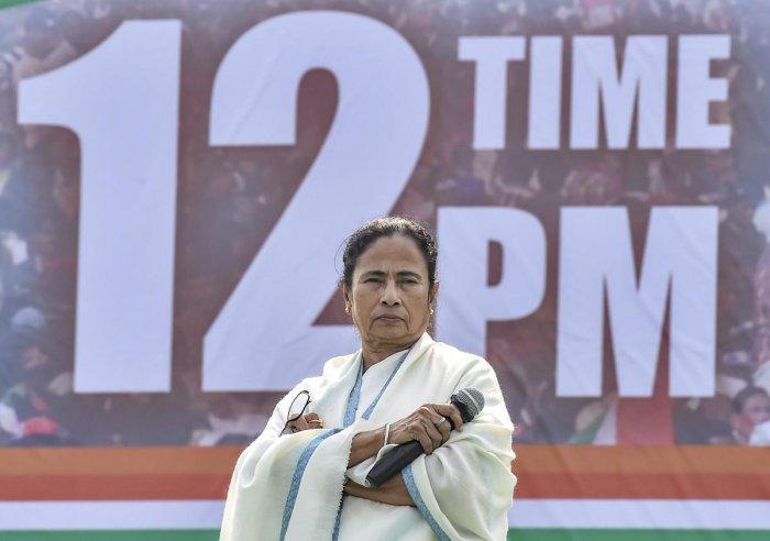 West Bengal Chief Minster Mamata Banerjee. PTI Photo