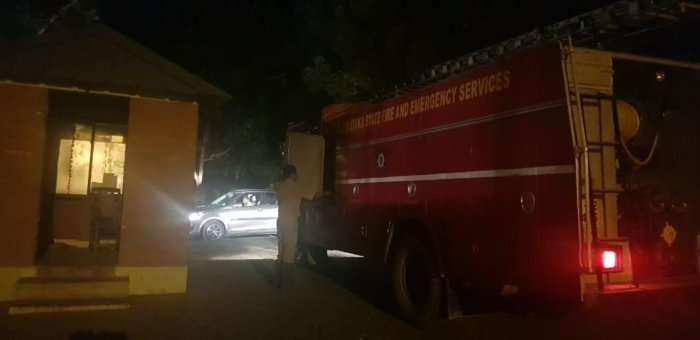 The latest mishapoccurred on Tuesday afternoon. At 1 pm,a fire was spotted opposite to the Pariksha Bhavan (examination block), which gutted at least 10 acres of land in the campus. Though the fire brigade was immediately rushed to the spot, they struggled to put the fire out until late evening.