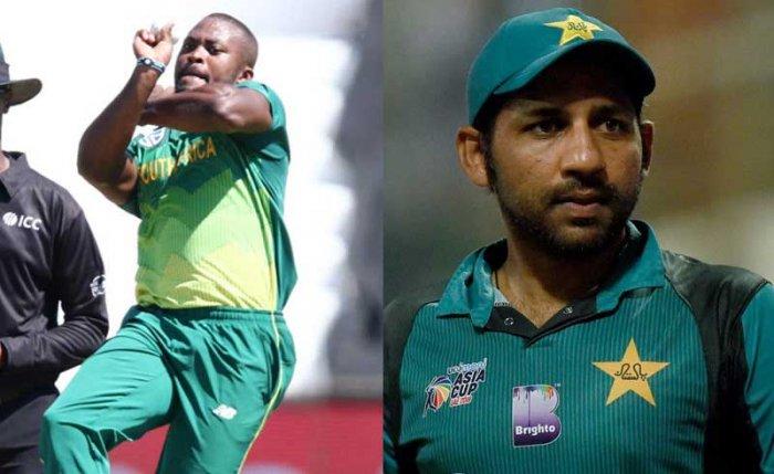 Andile Phehlukwayo and Sarfraz Ahmed. (AFP file photos)
