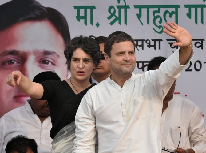 Priyanka's 'official' entry to the politics comes ahead of the Lok Sabha elections. PTI file photo