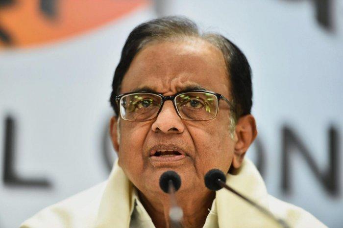 Congress senior leader P Chidambaram. PTI Photo