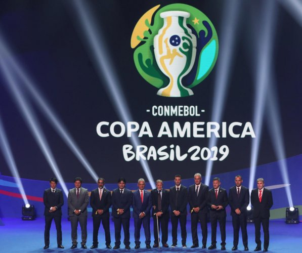 The coaches of the teams participating in the 2019 Copa America. REUTERS