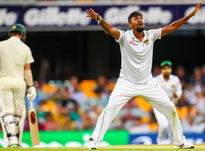Suranga Lakmal's five-wicket haul notwithstanding, Australia took a firm grip of the first Test. AFP