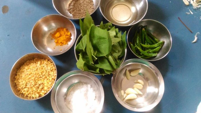WHOLESOME 'Ambadi bhaji' ingredients. Photos by Author