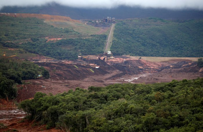 A view of a tailings dam owned by Brazilian miner Vale SA that burst, in Brumadinho. Reuters photo