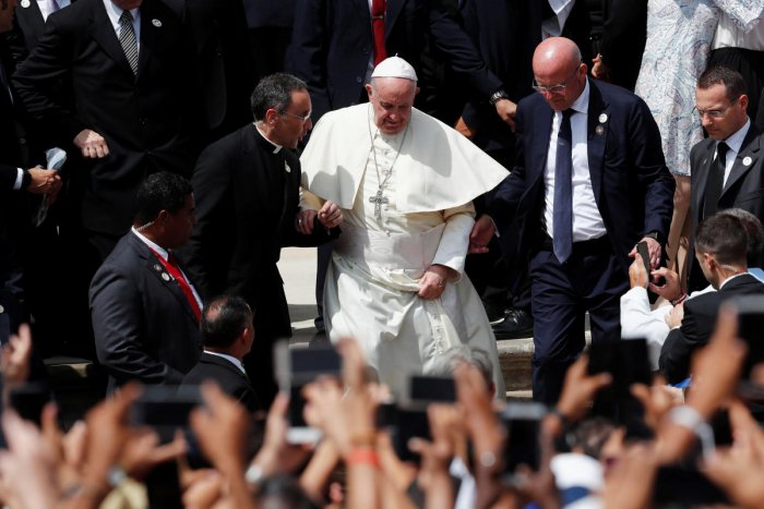 Pope Francis leaves after a mass at Church Cathedral Basilica Santa Maria La Antigua during World Youth Day in Panama City. Reuters file photo