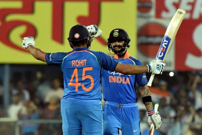 Rohit Sharma (62) and Virat Kohli (60) put on 113 for the second wicket as India reached their 244-run target with 42 balls left. (PTI File Photo)
